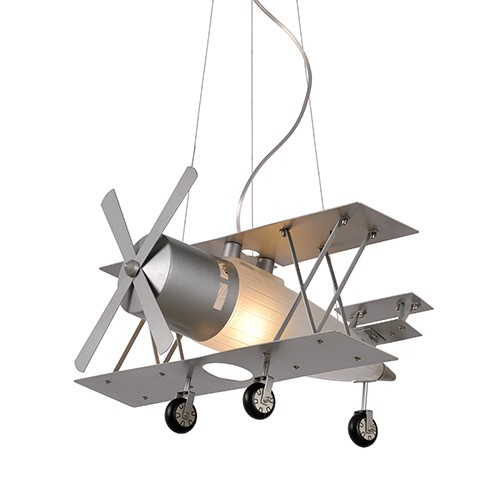 Jongenskamer hanglamp Fokker vliegtuig  Straluma