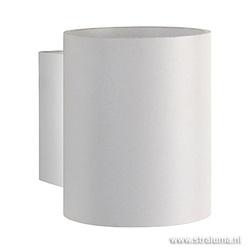 Kleine design wandlamp wit
