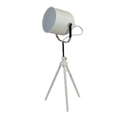 *Driepoot tafellamp Studio spot wit