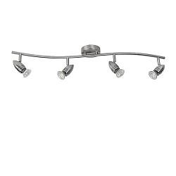 Moderne plafondspot balk staal 4-lichts
