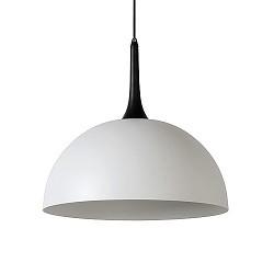 Moderne hanglamp-koepel wit met zwart
