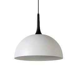 Grote koepellamp-hanglamp wit met zwart