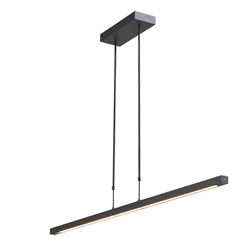 Dim to warm LED hanglamp-balk zwart
