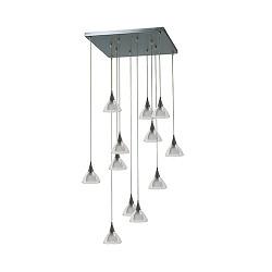 **Vide hanglamp Caterina nikkel met glas