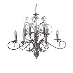 Hanglamp kroon Moskow pegels van glas