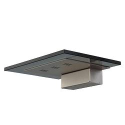 * Moderne wandlamp zwart glas met nikkel
