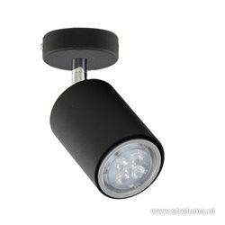 *Moderne spot zwart 1-lichts verstelbaar