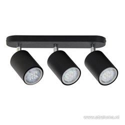 *Zwarte plafondlamp spot modern 3-lichts