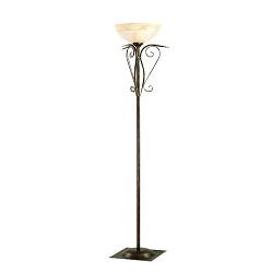 *Klassieke staande lamp - uplighter glas