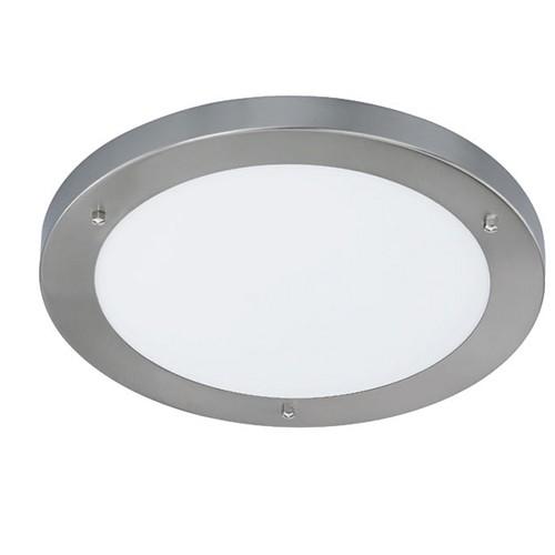 Plafondlamp badkamer nikkel rond IP44  Straluma