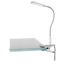 **Klemlamp leeslamp LED staal touch