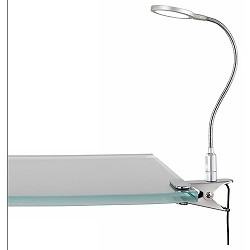 **Klemlamp/bureaulamp LED staal slaapka