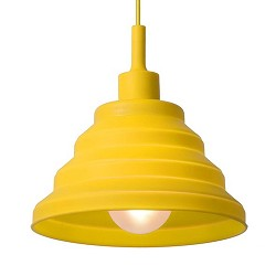 **Knalgele siliconen hanglamp opvouwbaar