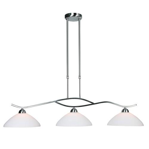 Hanglamp Capri staal glas eettafel  Straluma