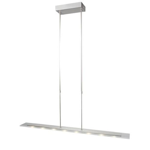 Beschrijving Moderne LED eettafel hanglamp staal-glas