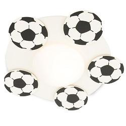 **Plafondlamp Voetballen zwart/wit