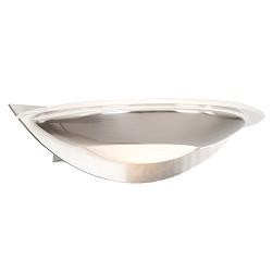 *LED wandlamp modern staal met glas