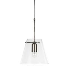 Glazen hanglamp Pendant met staal