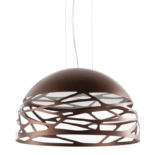 Beschrijving Hanglamp Kelly koepel brons woonkamer