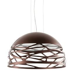 Hanglamp Kelly koepel brons woonkamer