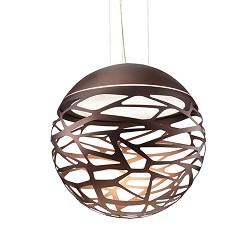 **Design hanglamp Kelly bol brons groot
