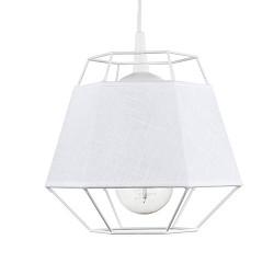 *Witte draad hanglamp met ingebouwde kap