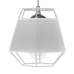 *Kleine grijze hanglamp draad met stof