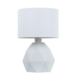 Stenen vaaslamp-schemerlamp wit