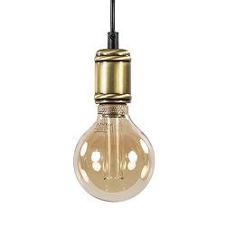 Landelijke pendel hanglamp antiek brons