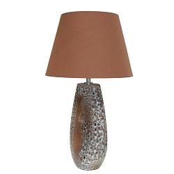 *Keramieke decoratieve tafellamp bruin
