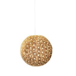 Romantische hanglamp schelp creme