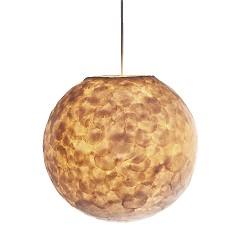 Hanglamp 40 cm rond creme schelpen