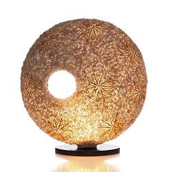 *Decoratieve tafellamp schelp donut crem