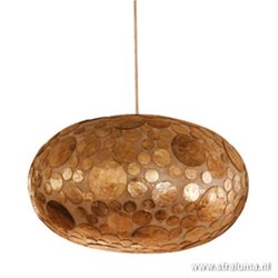 Schelpen hanglamp coin goudbruin