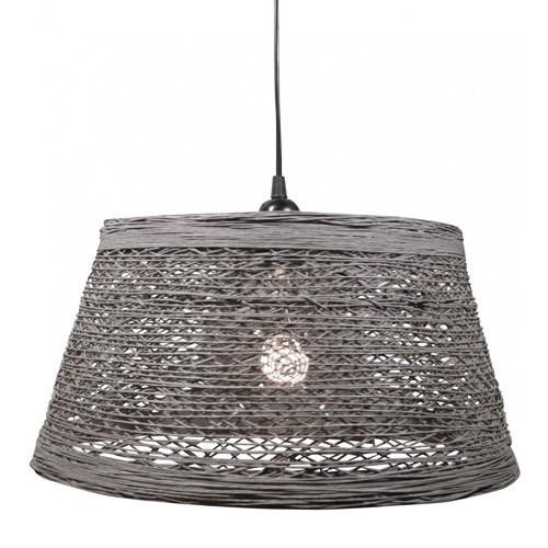 Hanglamp draad cement-grijs slaapkamer  Straluma