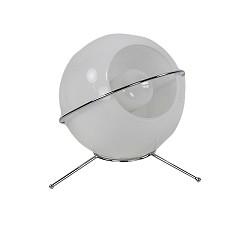 * Aanbieding Klein tafellampje wit rond