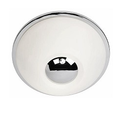 * Moderne plafondlamp wit-chroom keuken