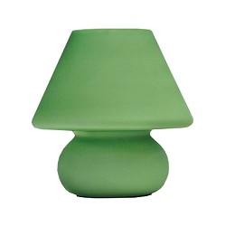 **Retro tafellamp groen glas slaapkamer