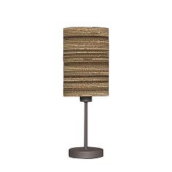 Tafellamp met kap van karton - bruin