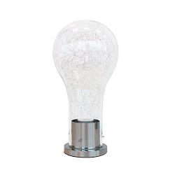 *Gloeilamp tafellamp glas chroom modern