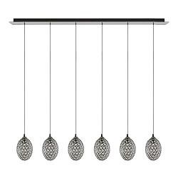 *Luxe eettafel hanglamp kristal 6-lichts