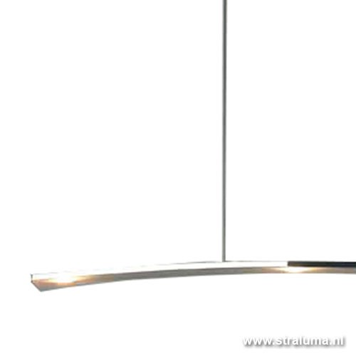 Design hanglamp led eettafel aluminium straluma for Verlichting hanglampen design