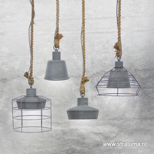 Industriele Hanglamp Keuken : Keuken-wc-hal hanglamp industrie beton Straluma