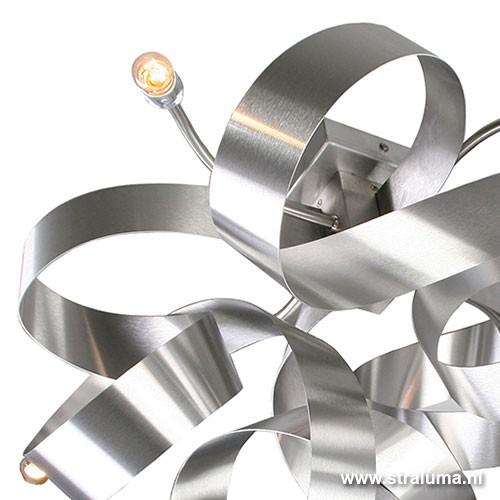 Plafondlamp krul design rvs straluma for Design plafondlamp