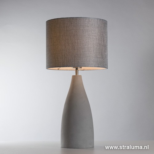 Grote betonnen schemerlamp tafellamp straluma - Grote tafellamp ...