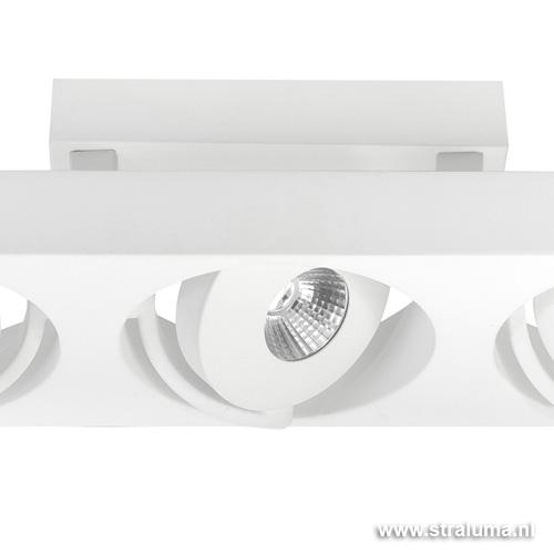 Design plafondlamp spot LED wit keuken Straluma