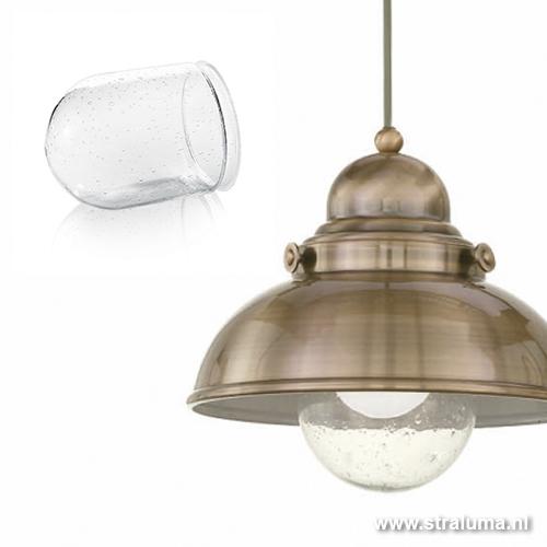 Hanglamp Glas Keuken : Landelijke hanglamp brons keuken/gang Straluma