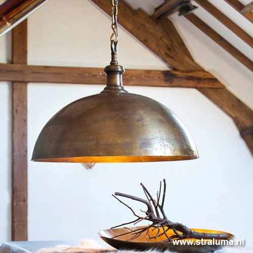 Landelijke hanglamp Adora antiek brons  Straluma