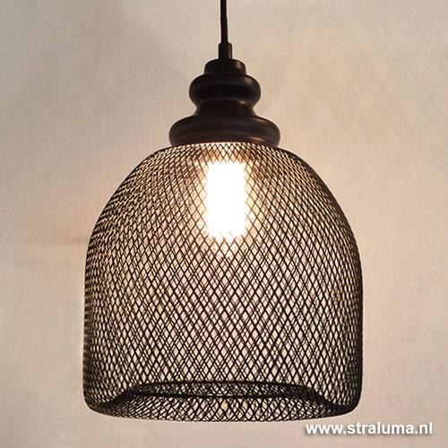 Gaas hanglamp karlijn zwart woonkamer straluma for Led hanglampen woonkamer