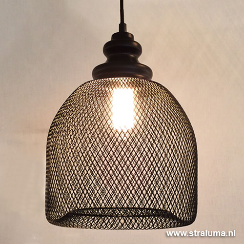 Gaas hanglamp karlijn zwart woonkamer straluma for Woonkamer lamp modern
